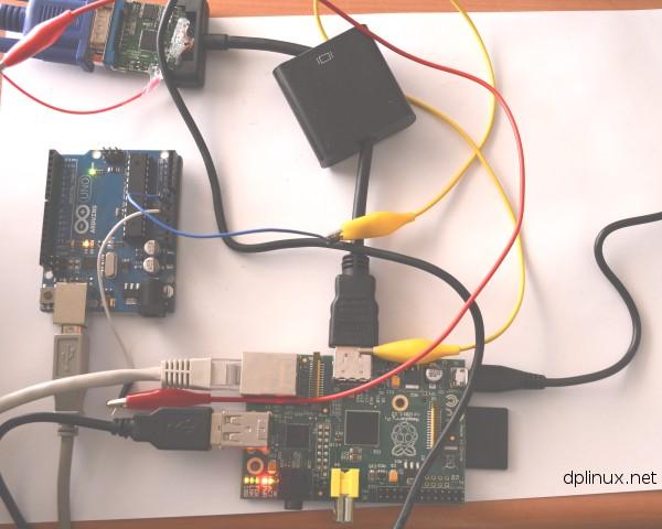 montaje arduino adaptador hdmi