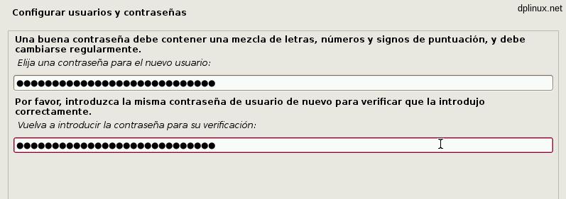 instalacion clave usuario