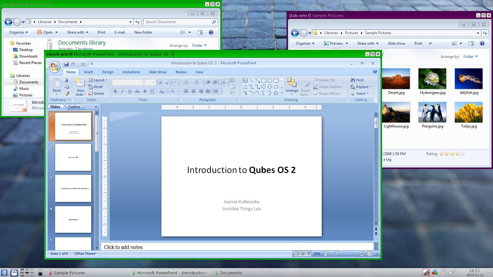 qubes windows