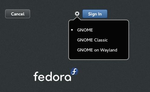 fedora gdm wayland