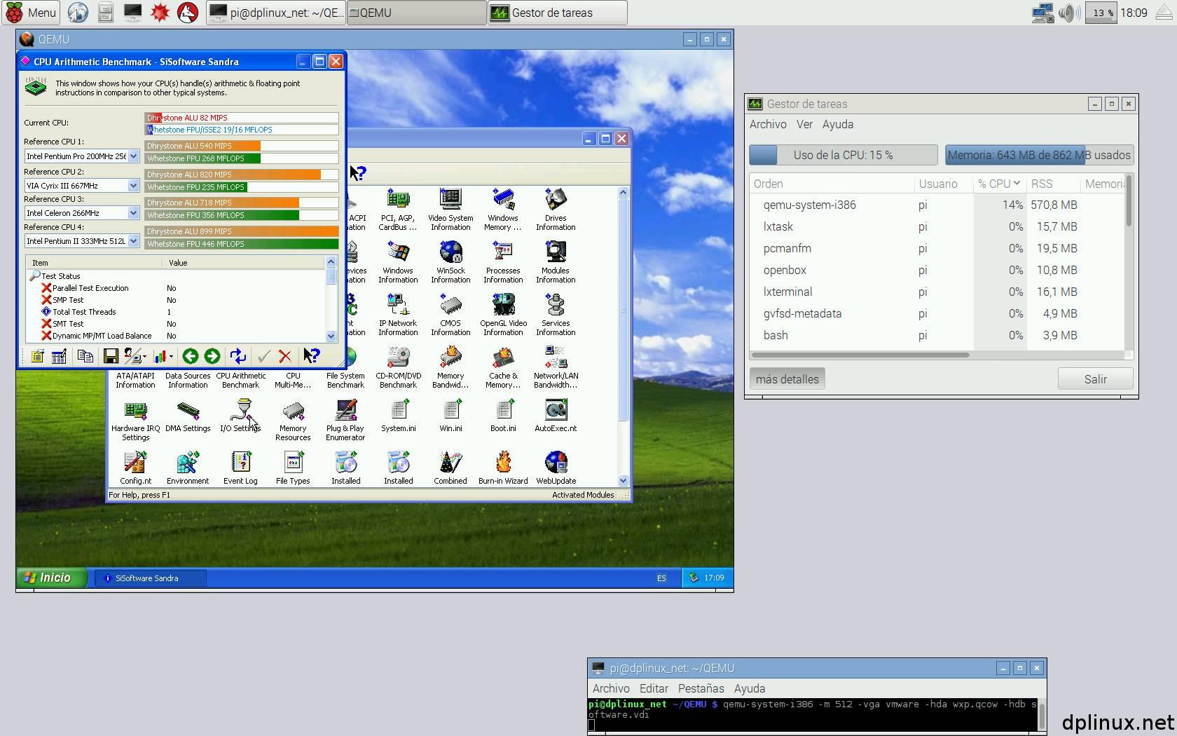 sisoft windows xp