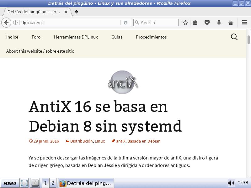 antix 16 firefox